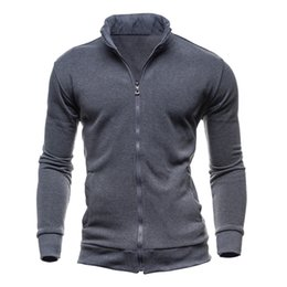 Wholesale Mandarin Suits - Wholesale- Hoodies Men Sweatshirts Hoodie Suit Men's Tracksuits