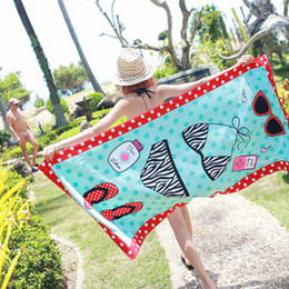 Wholesale Polyester Rectangle Tablecloths - Superfine Fiber Beach Towel Printed Tapestry Tablecloth Serviette Covers Beaches Shawl Wrap Yoga Mat Water Uptake Towels
