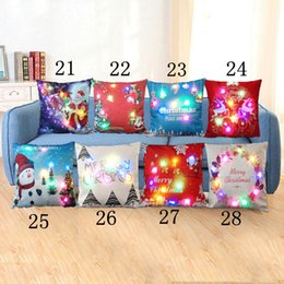 Wholesale Kids Decorative Pillows - LED light 45cm decorative throw pillow covers (cases) for home with many design Christmas items toys