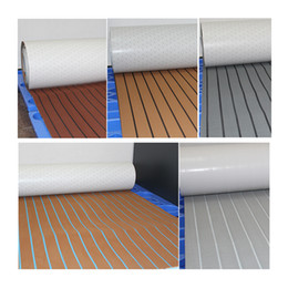 Wholesale Green Yachts - NEKEKE EVA foam outdoor deck mats pad Faux Teak Sheet Marine flooring boat yacht sails deck flooring