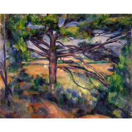 Wholesale Pine Panel - Paul Cezanne Paintings Large Pine and Red Earth abstract landscapes art canvas hand-painted wall decor