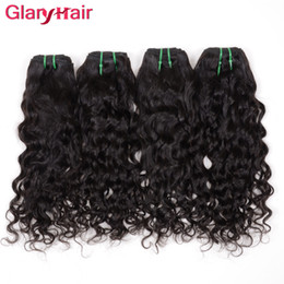 Wholesale Indian Wavy - Glary Brazilian Virgin Human Hair Weave Bundles Natural Water Wave 3 4 5 pcs Brazillian Virgin Hair Weave Wet Wavy Brazilian Hair Extensions