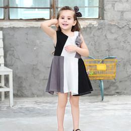 Wholesale Girls Lace Dress Brooch - New Korean Girls Dresses Summer Children Clothes Dress Sleeveless Cotton Flower Brooch Boutique Girl Party Dress 90-140cm A7426