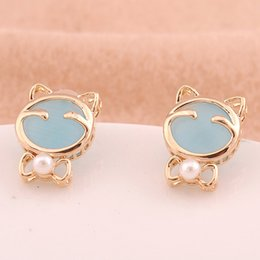 Wholesale Cat Clip Earrings - Xs New Selling Earrings KT Cat Earrings Ear Clip Opal Earrings Accessories Mixed Batch Wholesale B1377