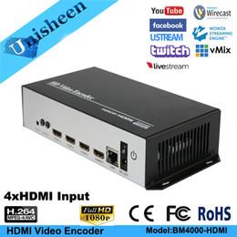 Wholesale channel encoder - Versatile H.264 HEVC Encoder 4 HDMI channel 1080P60 Portable streaming wireless IPTV encoder H264 video transmitter