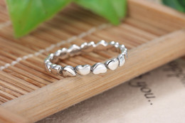 Wholesale Band China - A wholesale 925 Silver Heart to heart ring ring Fit Pandora Cubic Zirconia Anniversary Jewelry for Women Christmas gift