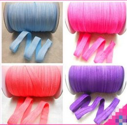 Wholesale Craft Hair Bows - 196 colors Elastic bands Hair Ties Headbands Crafts Sewing Tape Trim Applique Hair Elastic Hair bow Webbing Band 100yards