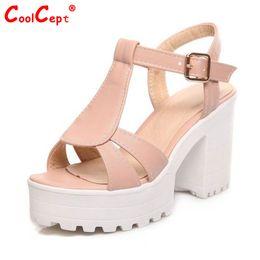 Wholesale Vintage Fabric Sandal - Wholesale-women gladiator sandals vintage design ankle straps open toe summer shoes thick high heels platform sandals size 34-46 PE00031