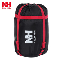 Wholesale Hiking Cold Weather - Wholesale- NatureHike Portable Beer Barrel 2m Super Long Nylon Cotton Sleeping Bag for 4 Season Cold Weather Outdoor Camping Travel Hiking