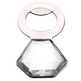 Wholesale Diamond Bottle Opener - New home decoration Wine Bottle Opener Creative Crystal Diamond Metal opener Wedding Promotion Gift