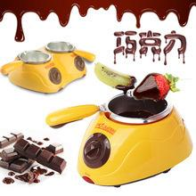 Wholesale Hot Chocolate Melting Pot Electric Fondue Melter Machine Set DIY Tool Durable Electric Heating Cost Effective Hot Sell zb J