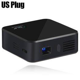 Wholesale Pico Pocket Dlp Projector - Wholesale-Handy Mini Projector E05 Bluetooth Wifi Home Theater Pico Portable Pocket LED USB DLP Android 4.4 Built in battery 3000mA