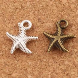 Canada Corrugation étoile de mer mer étoile charme perles mode 14 x 16 mm antique argent / bronze pendentifs alliage à la main bijoux bricolage l014 cheap antique star beads Offre