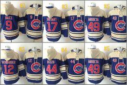 Wholesale Baseball Sweaters - chicago cubs #12 kyle schwarber hoodie 2017 Baseball Hoodies Sweaters Pullover Hooded Sweatshirt Jerseys