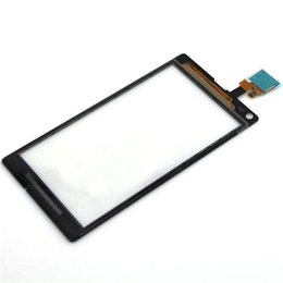Wholesale Touch Screen Digitizer L36h - OEM Touch Screen Glass Panel with Digitizer Replacement for Sony Z L36H LT36i Z1 L39h C6902 C6903 Z1 Compact Mini D5503 Free Shipping