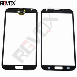 """Wholesale Note2 Glass White - New Touch Glass For Samsung Galaxy note2 N7100 5.5"""" For Front Screen Glass Lens Black White With Free ShippingSamsung"""