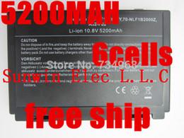 Wholesale A32 F82 - Wholesale-5200MAH new 6cells Laptop Battery For Asus K50AB K70 A32-F52 F82 K50I K60IJ K61IC K50C K50ID k50IE K50IL K50IP K50X K51A K51AB
