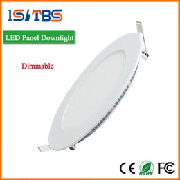 Wholesale Dimmable Led Light Panel - Dimmable Round Led Panel Light SMD 2835 3W 9W 12W 15W 18W 21W 25W 110-240V Led Ceiling Recessed down lamp SMD2835 downlight + driver
