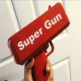 Wholesale Red Toy Gun - 2017 new 1pcs sell guns, guns, money, money, fashion toys, it rains, money gun Red Christmas gifts toysa17102423.5