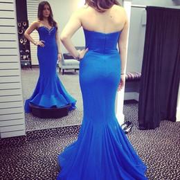 Wholesale Long Chiffon Sweetheart Dress - Mermaid Prom Dresses Long 2017 Sweetheart Sleeveless Backless Sweep Train Chiffon Party Evening Dress 2017 Vestidos De Festa