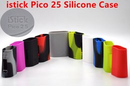 Wholesale V8 Cover - Istick Pico 25 Silicone Case Silicon Cases Colorful Rubber Sleeve Protective Cover Skin For Istick Pico 25 VS pico 75w AL85w stick V8