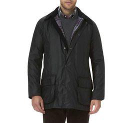 2019 giacche cerate Bm07 Inghilterra Retro Style Uomo Giacche Conciso all'aperto Cotone Giacca cerata antivento del cappotto maschio di trasporto sconti giacche cerate