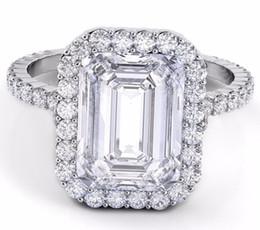 Wholesale Diamond Halo - 15.00 CTW Emerald Cut GIA Certified Halo Diamond Engagement Platinum 950 Ring