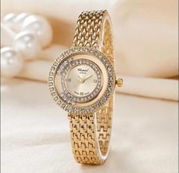 Wholesale Green Glass Bracelet - New Brand Women Watch Bracelet Quartz Dress Watch Ladies Stainless Steel Rhinestone WristWatch Diamonds Relogio Feminino watches