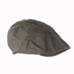 Wholesale Male Models Cap - Wholesale-Big Sale Fashion Gentleman Mens Cotton Bakerboy Beret Flat Cap Newsboy Cabbie Cool Driver Sun Hats Golf Driving Male Models