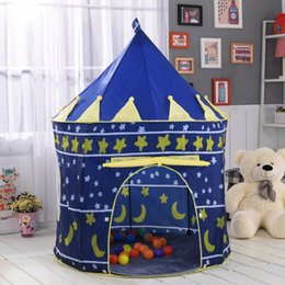 Wholesale Blue Castle Play Tent - New Children Baby Portable Folding Play Tents Playhouse Garden Outdoor Castle Playing House