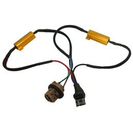 Resistor cancelador de erro on-line-LEEWA 2 pcs Car LED Light Adapter Canceller Error Resistor Cabo Fio Canbus Função Aviso Intermitente Canceler # 5344