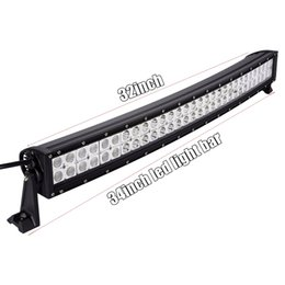 "Wholesale Waterproof Atv Led Lights - 32"" 60 pcs*3W 180W Curved LED Work Light Bar SUV ATV Off-Road 10-30V 4WD 4x4 Truck Boat Jeep Spot Flood Combo Beam 14400lm Waterproof IP67"