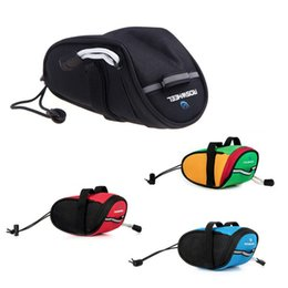 Wholesale Roswheel Bike - Free DHL New Arrival Roswheel Outdoor Cycling Mountain Bike Bicycle Saddle Bag Back Seat Tail Pouch Package Black Green Blue Red US1