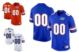 Wholesale Royal Colleges - Stitched Personalized Florida Gators Mens Custom College Football Limited Jerseys Orange Royal Blue White #15 #22 #13