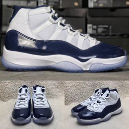Wholesale New Arrivals Women - 2017 New arrival Air Retro 11 Midnight Navy UNC Men Basketball Shoes high quality Retro 11s women Sports shoes Trainer Sneakers eur 36-47