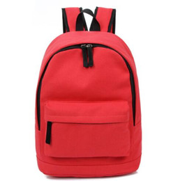 Wholesale Korea Style Fashion Girls Backpack - Korea Style Fashion Backpacks for Men and Women Solid Preppy Style Soft Back Pack Unisex School Bags Big Capicity Canvas Bag