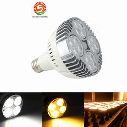 Wholesale Cree Down Spot Light - PAR30 E27 LED Spot Down Light 35W Super Bright Led Spotlight Bulb Lights AC110-265V Track Lamp Bulb Home Decor Free Shipping