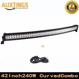 "Wholesale Housing Curve - FREE SHIPPING curved led light bar 40""42""inch 240W watt COMBO Beam aluminum housing led light waterproof IP67 led driving light"