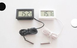 Wholesale Display Freezers - LCD Mini Digital Thermometer LCD Thermometer For Aquarium Freezer On-board Aquarium Refrigerator Embedded Electronic Display Thermometers