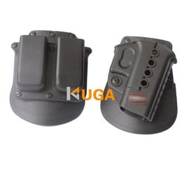 Wholesale Double Paddle - Fobus standard Holster RH Paddle GL-2 ND+magazine holster For Glock 17 19 22 23 27 31 32 34 35 6900RP Double Mag Pouch Glock 9& 40 H&K 9&40