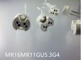 bajonettlampe Rabatt MR16 MR11 G4 GU5.3 Keramik-Miniatur-Doppelstecker mit hitzebeständigem Kabelanschluss für Schienenlicht-Downlights