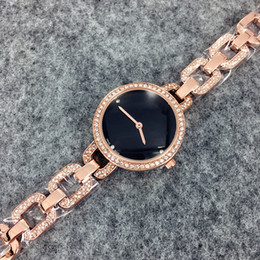 Wholesale Nude Modelling - 2017 New model Fashion luxury watches women watch golden Stainless Steel black Bracelet Wristwatches Brand female clock free shipping