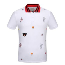 Wholesale New Agents - Summer New Pattern Lapel Short Sleeve Male Pearl Pure Cotton Leisure Time Printing T Pity High Goods In Stock Recruit Agent