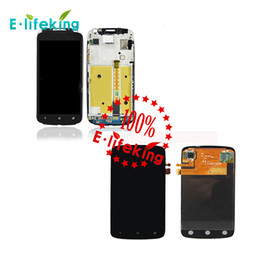 Wholesale Free One Touch - Black For HTC One S Z520e LCD Display Touch Screen with Digitizer Assembly Replacement with & without frame Free shipping