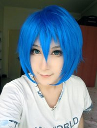 Wholesale Kaito Hair Wig - MCOSER Wholesale Price Vocaloid Kaito High Quality 13 Inches Bright Blue Cosplay Carnival Wig Cosplay women's peruca hair queen wigs