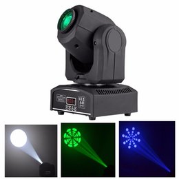 Wholesale Led Spot Lights China - Wholesale- (1 pieces lot) moving head spot light 30W LED dmx gobo dj led effect for china Moving Heads
