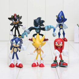 Wholesale Sonic Hedgehog Wholesale - 6 pieces   set. Sonic the hedgehog Boom Rare Shadow the Hedgehog Miles Prower Knuckles echidna pvc figure christmas present