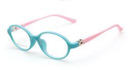 Wholesale Kids Round Eyeglasses - (10pcs lot) Fashion plastic kids optical frames children eyeglasses frames for prescription many colors accept mixed order 8801