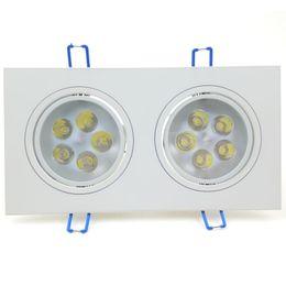 Wholesale Led Driver Watt - 10W LED Lamp AC 85~265V White Ceiling Aluminum Spotlight Flush Mount 10 Watt with LED Driver Quality Indoor Lighting Luminaire Lampada CE