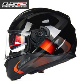 Wholesale Ls2 Visor - LS2 FF328 full face motorcycle helmet with inner sun visor man racing motorbike helmet DOT approved LS2 moto HELMETS